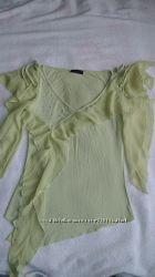 Салатовая блузка размер S  бу