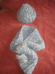 новый набор шарф снуд и шапка