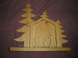 большая деревянная заготовка для декорирования