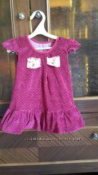микровельветовое платье на 2-3 года
