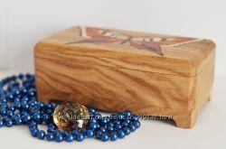 шкатулка ручной работы из натурального дерева