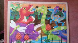 пазлы динозавры melissa & doug бу