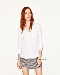 Рубашка изо льна Zara