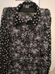 Шифоновая блузка цветочный принт