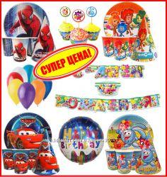 Набор на день рожденья - Тачки, Смешарики, Пеппа, Человек паук, Фиксики