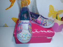 Мокасины- туфельки SKECHERS с мигалками
