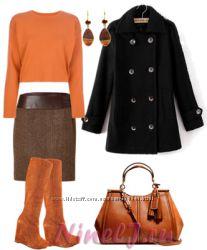 Черное пальто INCITY, р-S
