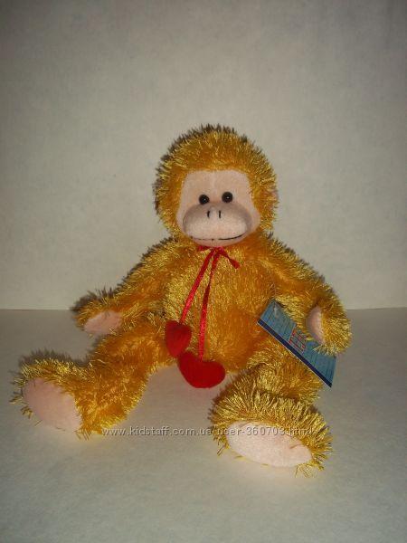 Мягкая игрушка обезьянка с сердечками антистресс