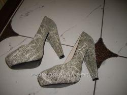 нарядные туфли, кожа,  Steve Madden 7. 5-8М38 одеты 1раз,