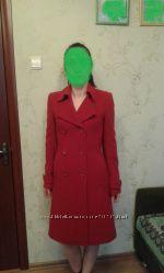 Красивое добротное пальто р. 44 наш, шерсть