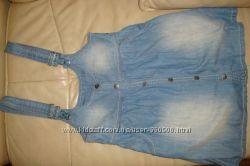 Модный сарафан джинсовый 152см
