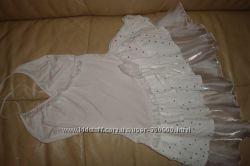 нарядное белое платье на 158 см
