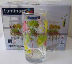 Набор цветных стаканов Luminarc Crazy в подарочной упаковке новые