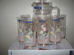 Набор комплект для напитков Люминарк Luminarc Elise кувшин и 6 стаканов