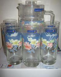 Комплекты для напитков Люминарк Luminarc из 7 предметов кувшин и 6 стаканов