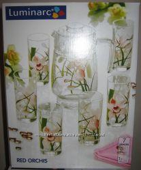 Набор для напитков Люминарк Luminarc Red Orchis 7 предметов новый