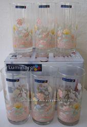 Набор высоких стаканов фирмы Люминарк Luminarc Elise новый
