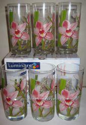 Набор стаканов фирмы Люминарк Luminarc Red Orchis 6х270 новые
