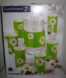 Комплект для напитков Люминарк Luminarc Green кувшин и 6 стаканов новые