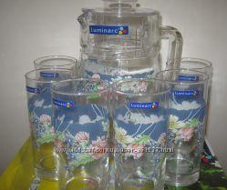 Комплект Люминарк Luminarc Florine 6 стаканов и кувшин новый