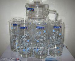 Комплект для напитков Люминарк Luminarc Romantique 6 стаканов и кувшин