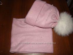 Женская двойная  шапочка, наборы  с хомутами