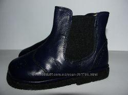 Темно синие кожаные полусапожки оксфорды Италия 20 р. ботинки