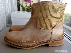 38р. Италия Полностью кожаные ботинки - полусапожки