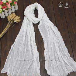Женские шарфики хлопковые разных цветов шарф платок