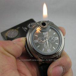 Мужские наручные часы с зажигалкой, часы-зажигалка, для курильщика, рыбака