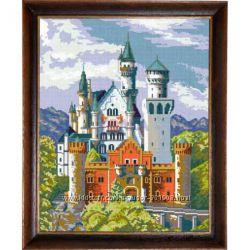 Замок Нойшванштайн. Чарівниця. Канва с нанесенным рисунком