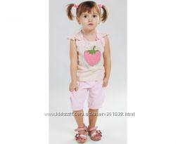 Летний костюм клубничка для девочки, ТМ Лютик