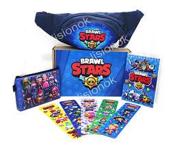 Бокс Бравл Старс бананка, блокнот, кошелек, закладки  отличный подарок