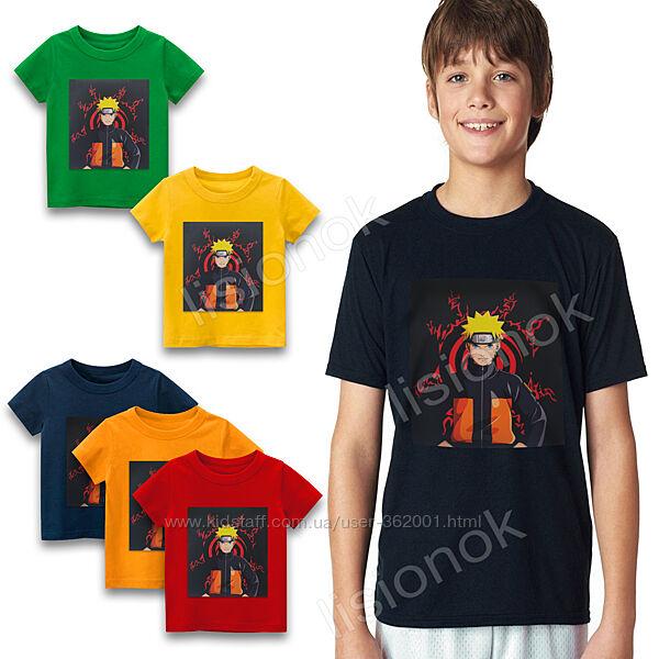 Футболка Наруто 110-152см, для детей и подростков Naruto