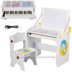 Парта Пианино дошкольная Bambi W 891 со стульчиком и мольбертом МДФ