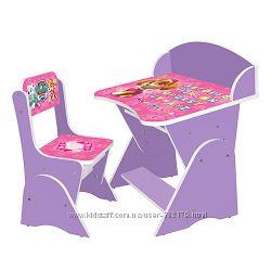 Парта дошкольная Bambi ML-315 регулируется со стульчиком 16 цветов