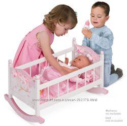Деревянная Кроватка для кукол De Cuevas 54523 Maria Испания 56-33-38см Поду