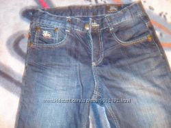 джинсы BURBERRY на флисе на рост до 165
