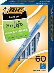 Синие шариковые ручки BIC. Вналичии