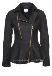 Пальто женское косуха байкерский крой с баской zalando м