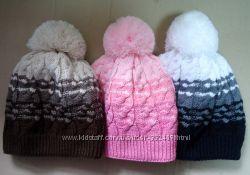 Теплая полушерстяная шапка 54-56р