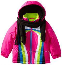Яркая куртка для девочки на 5-6 лет. Шарфик в комплекте.