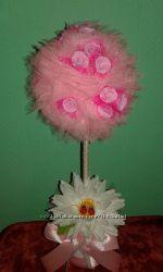 Топиарий Розовый Дерево счастья