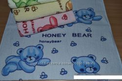 Лицевые махровые полотенца Мишки, отличное качество