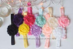Тендітна повязка на маленьку голівку 10 кольорів