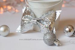 Хіт року - срібляста та золота заколка-бантік, 2 кольори