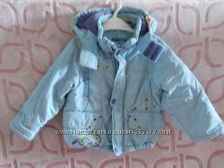 Демисезонная курточка с капюшоном мальчику на рост 80 см, ТМ DANILO