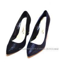 Туфли-лодочки женские кожаные