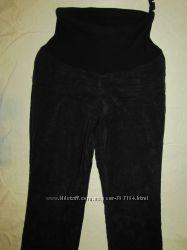 Теплые вельветовые штаны на флисе для животика р. М