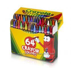 Восковые карандаши CRAYOLA 64 шт с точилкой